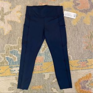 lululemon athletica Pants & Jumpsuits - Lululemon Fast and Free Navy Leggings NWT
